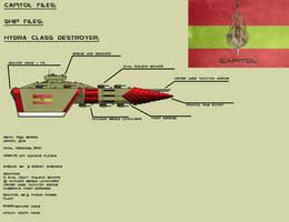 Hydra Class Destroyer MK.2 by EmperorMyric