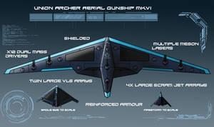 Archer Aerial Gunship by EmperorMyric
