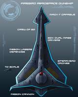 Fire Bird Anti Orbital Aerospace Gunship by EmperorMyric