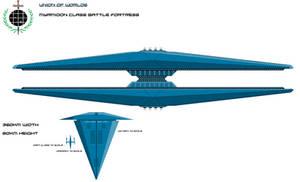 Union Myrmidon Class Battlefortress by EmperorMyric