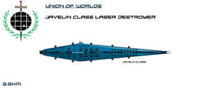 Union Javelin Class Laser Destroyer by EmperorMyric