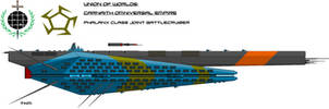 Union-Carnaith Joint Phalanx Class Battlecruiser by EmperorMyric