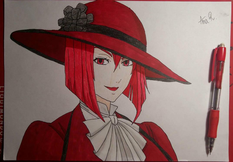 Madam Red coloured