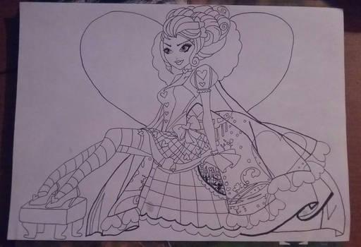 Lizzie Hearts lineart