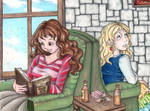 Hermione and Luna Quiet Time