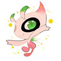 Pokemon Crystal: *Shiny Celebi* by TimerabiTimeTravel