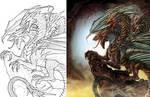 3-Headed Dragon Side-by-Side by SarahPerryman