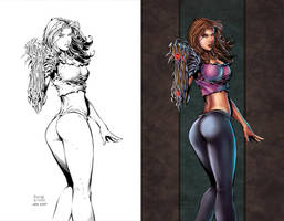 Witchblade Side-by-Side by SarahPerryman