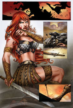Red Sonja #73 pg 17  - Colors