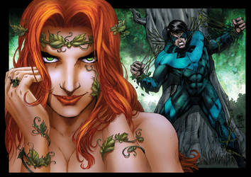 Poison Ivy and Nightwing - Colors by SarahPerryman