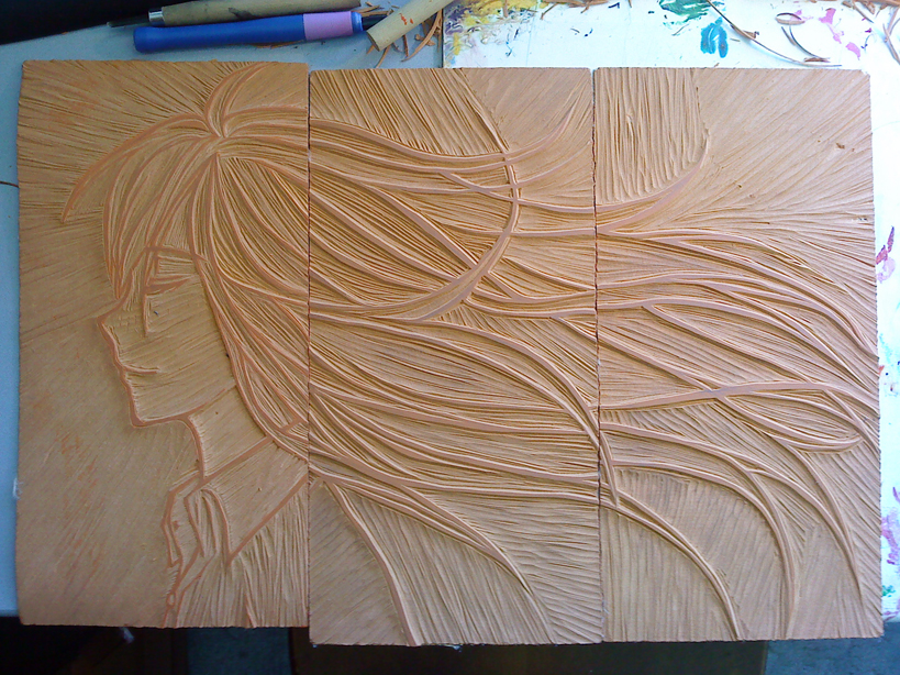 Lino carving by silky heart on deviantart