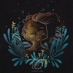 Alga Girl by JustineF-Illustrator