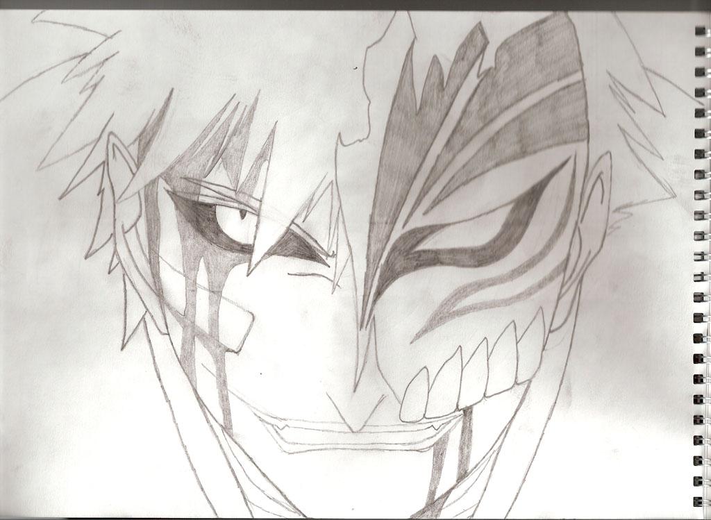 Bleach: Ichigo Hollow Sketch By Mattikai On DeviantArt