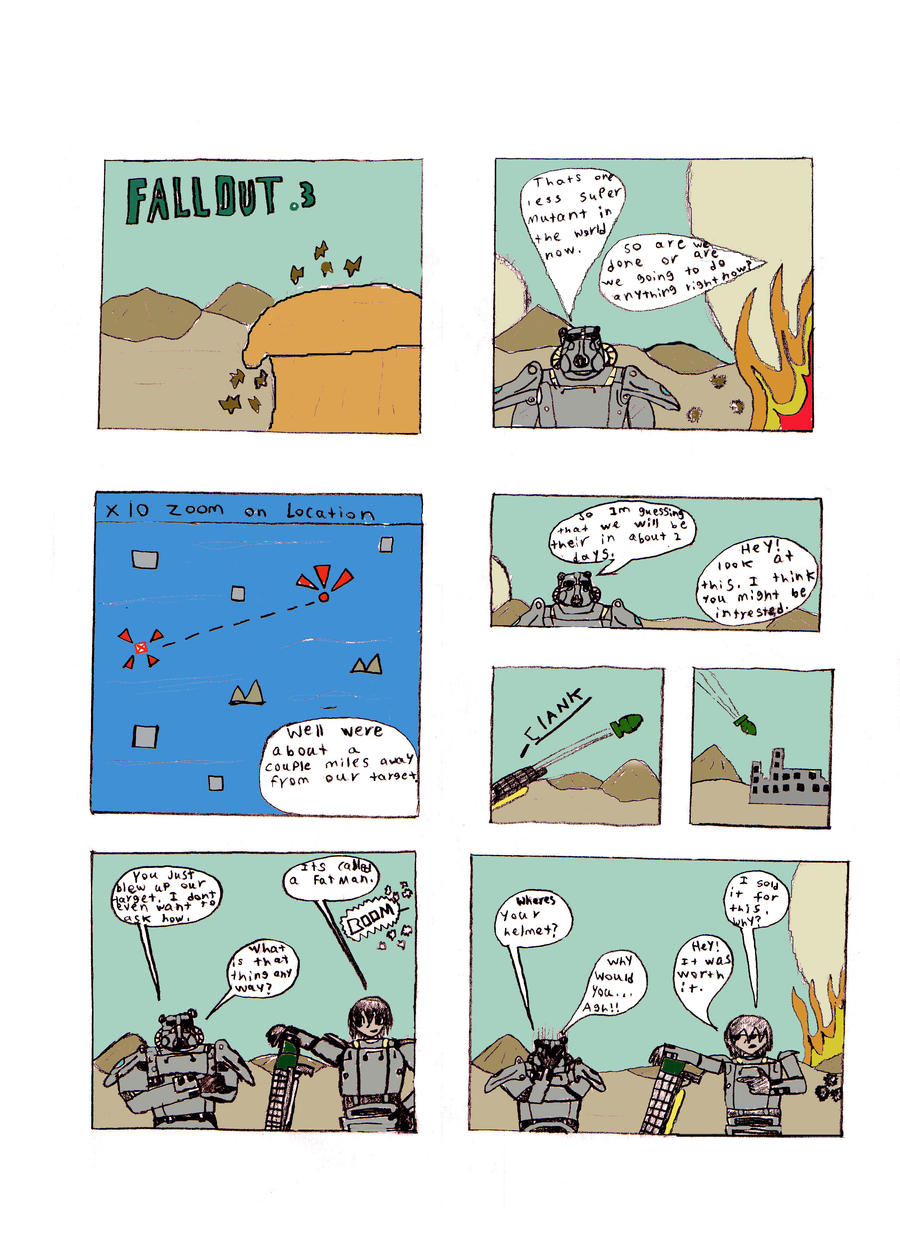 Fallout 3 Comic Issue 1 by Wars-Apocalypse01