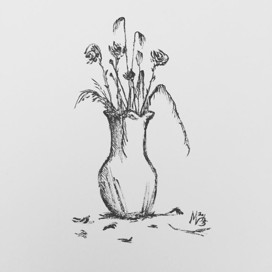 Vase of Dying Flowers: a Study by Spasticsnap