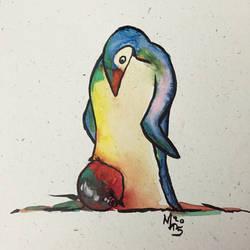 Penguin Christmas Card 2015