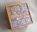 Quilt block mosaic box