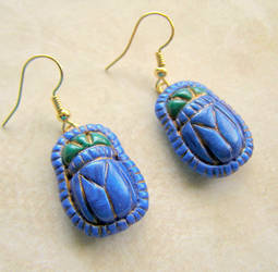 Egyptian Scarab earrings