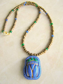 Eygptian Scarab necklace