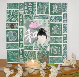 Kuan Yin Mosaic Shrine
