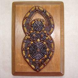 Spiral Goddess Wall Plaque