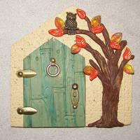 Autumn tree fairy door