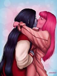 Bubbline kiss by ChickenOnAcid