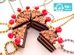 Cute cake in necklaces