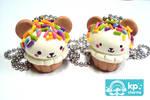 bear cupcakes by KPcharms