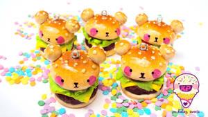 bear burger time by KPcharms
