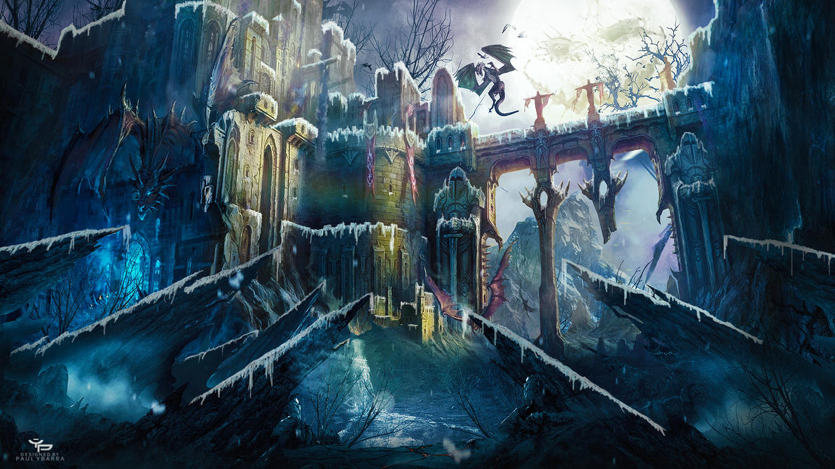 Snowy Castle Wallpaper By Ybarrapaul
