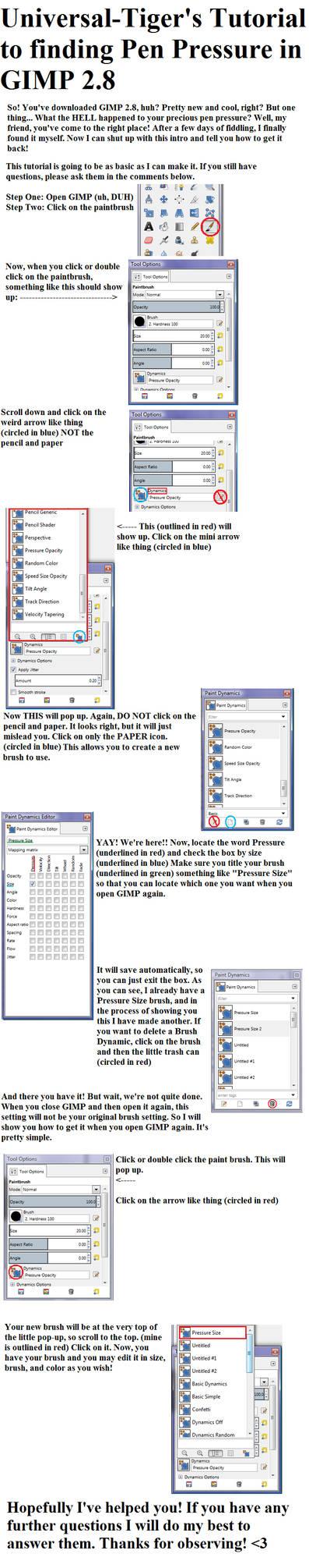 GIMP 2 8 Pen Pressure Help by Universal-Tiger on DeviantArt