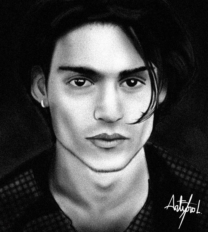 Como dibujar a Johnny Depp Johnny_Depp_Painting_by_arthurforzus