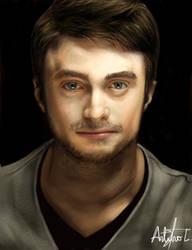 Dan Radcliffe Painting V2 by arthurforzus