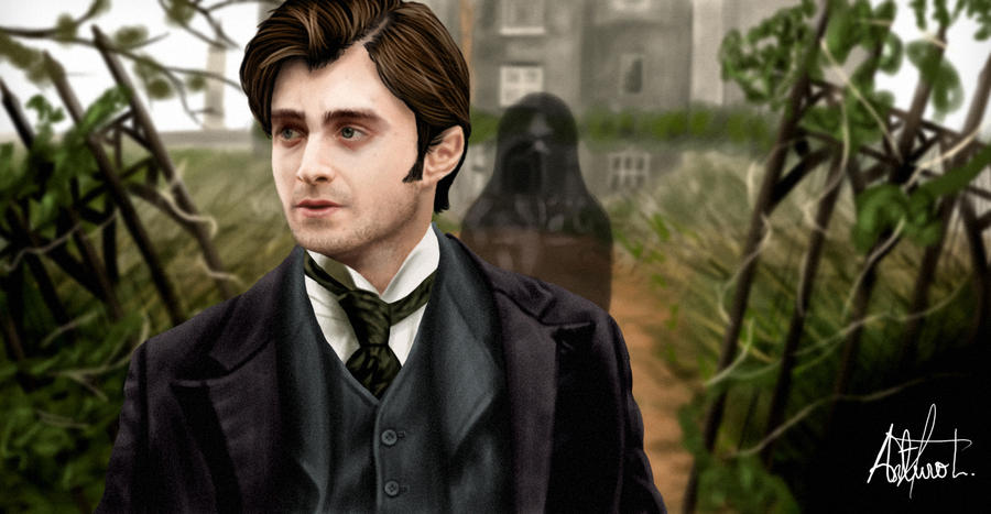 Arthur Kipps painting (The woman in black) by arthurforzus ... Daniel Radcliffe