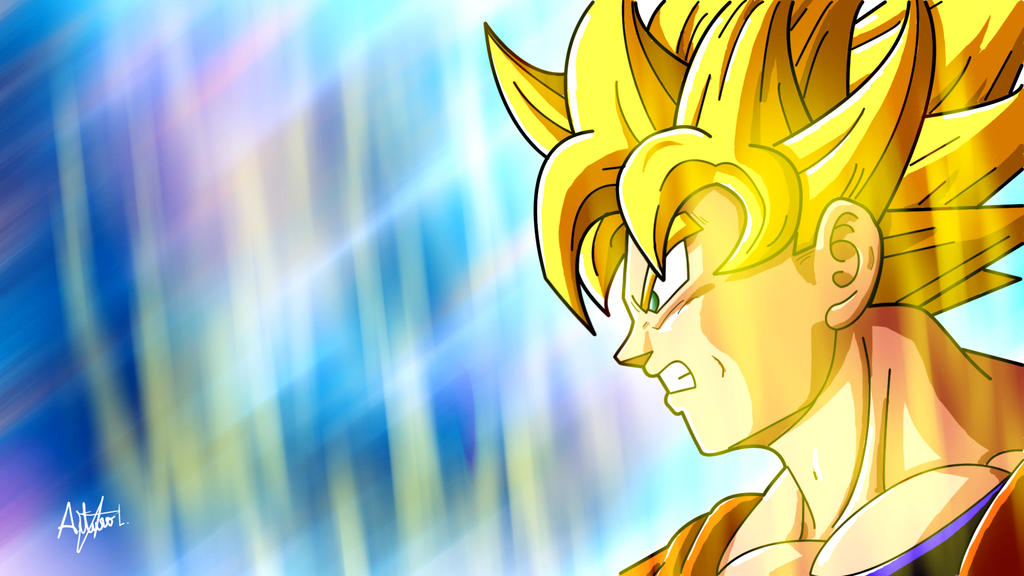 Goku painting