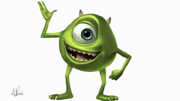 Mike Wasowski (Monsters Inc.) Painting