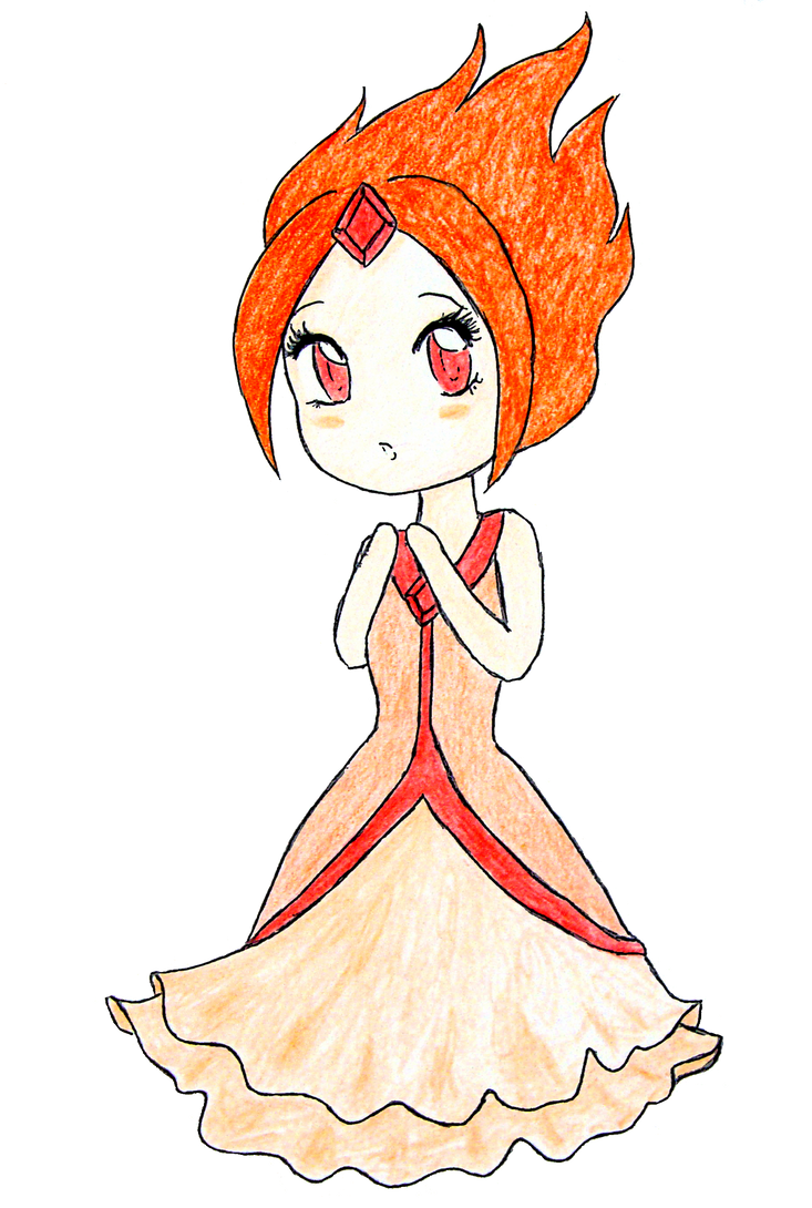 Chibi Flame Princess by Natsunohuyana on DeviantArt