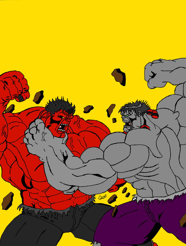 Red Hulk Vs Green Hulk Vs Gray Hulk Red hulk vs. savage gray hulk