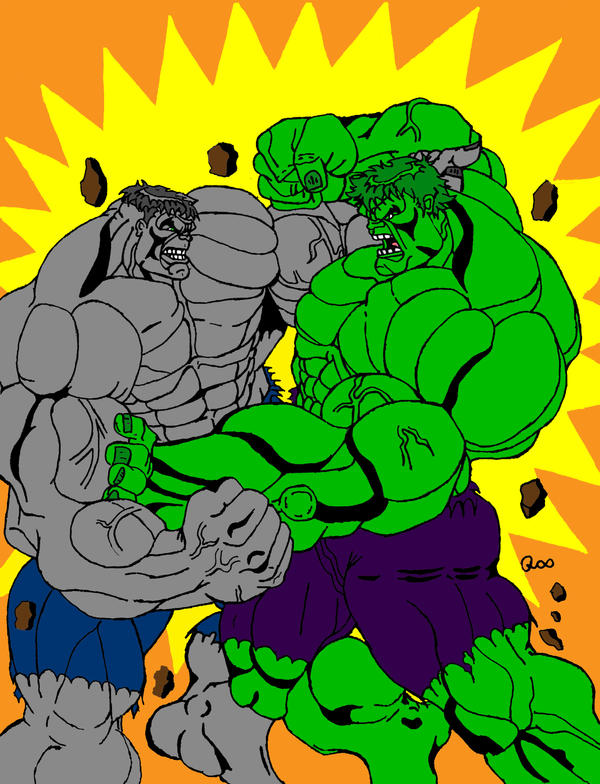 Red Hulk Vs Green Hulk Vs Gray Hulk Gray hulk vs. greenhulk ver.