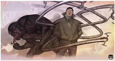 Venom and Ock by CoranKizerStone