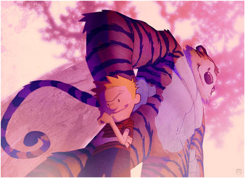 lil Calvin big Hobbes