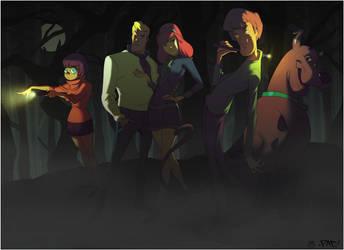 The Scooby-Doo Crew by CoranKizerStone