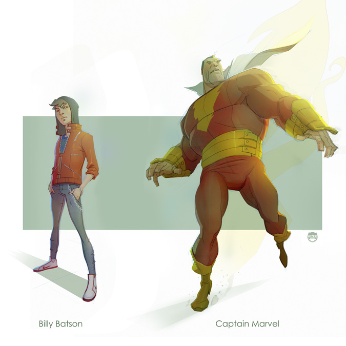 Batson......Captain Marvel by CoranKizerStone