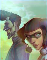 Crazy Man J and Harley by CoranKizerStone