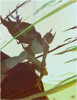 Bat vs Poison by CoranKizerStone