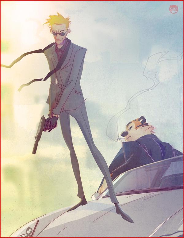 Secret Agent Calvin Hobbes by CoranKizerStone