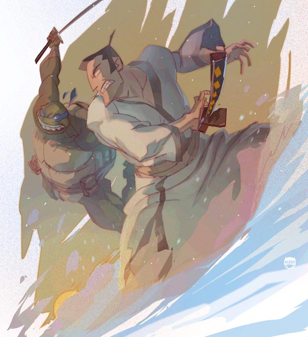 Shell,Samurai,Swords. by CoranKizerStone