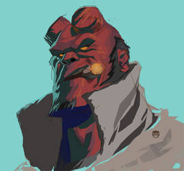 Hellboy by CoranKizerStone