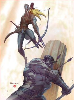 Legolas vs Azog